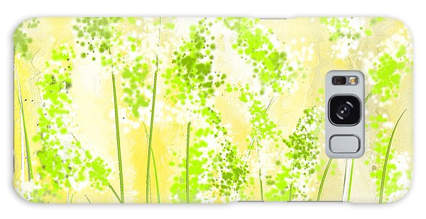 Yellow And Green Art Galaxy Case