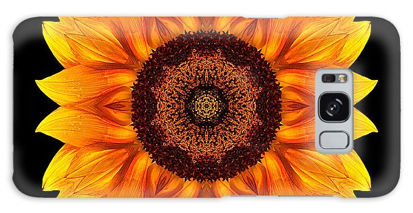 Yellow And Orange Sunflower Vi Flower Mandala Galaxy Case