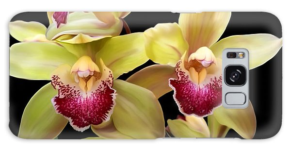 Yellow And Pink Orchids Galaxy Case