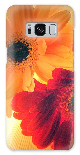 Yellow And Red Gerberas Galaxy Case