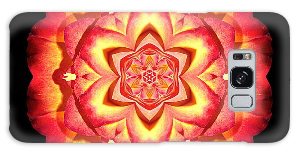 Yellow And Red Rose II Flower Mandalaflower Mandala Galaxy Case