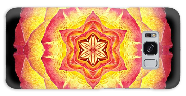 Yellow And Red Rose IIi Flower Mandala Galaxy Case
