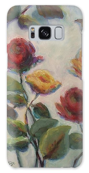Yellow And Red Roses  Galaxy Case
