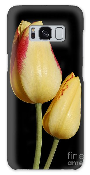 Yellow And Red Tulips  Galaxy Case