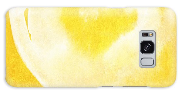 Heart Galaxy Case - Yellow And White Love by Linda Woods