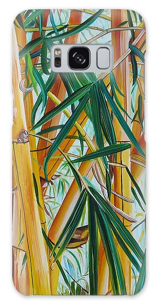 Yellow Bamboo Galaxy Case by Marionette Taboniar