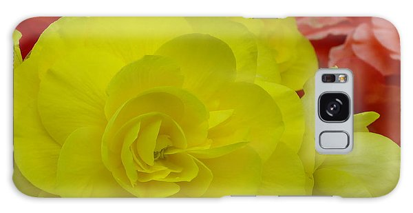 Yellow Begonia Galaxy Case
