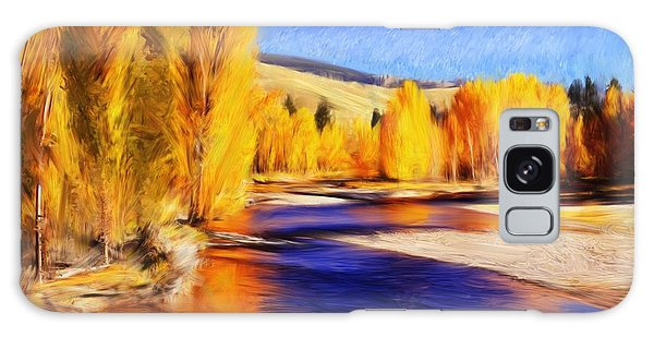 Yellow Bend In The River II Galaxy Case