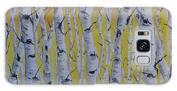 Yellow Birch Galaxy Case