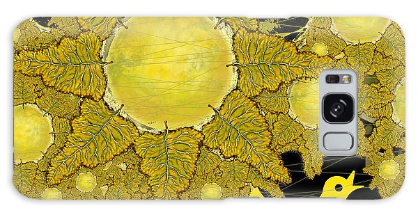 Yellow Bird Sings In The Sunflowers Galaxy Case by Carol Jacobs