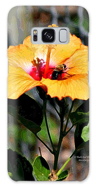 Yellow Bumble Bee Flower Galaxy Case