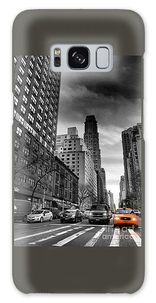 Yellow Cab One - New York City Street Scene Galaxy Case by Miriam Danar