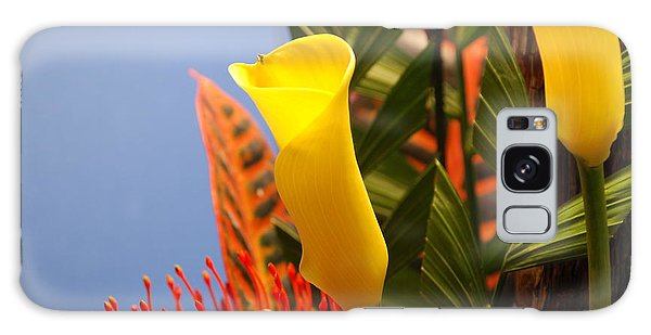 Yellow Calla Lilies Galaxy Case