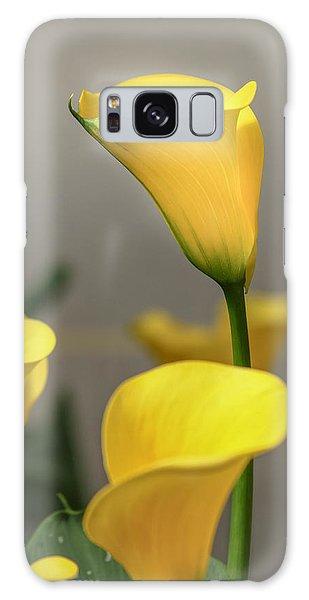 Yellow Calla Lilies Galaxy Case by Menachem Ganon