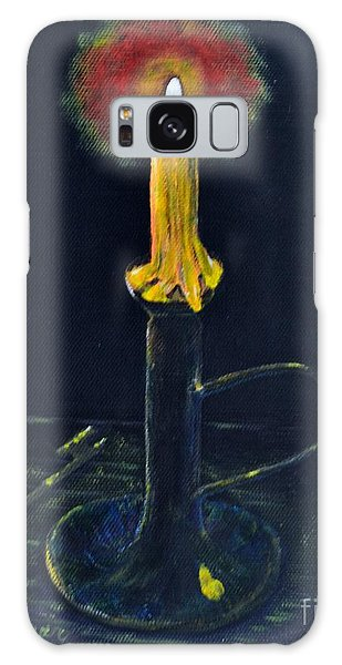 Yellow Candle Galaxy Case