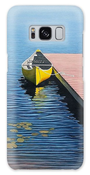 Yellow Canoe Galaxy Case by Kenneth M  Kirsch