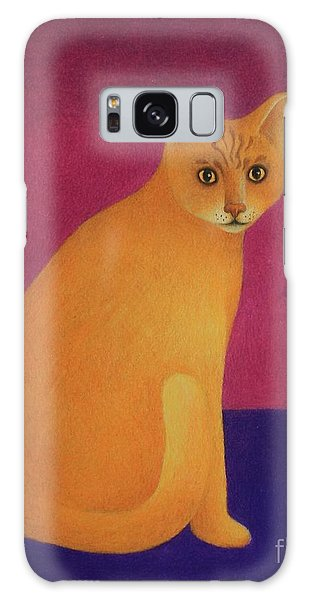 Yellow Cat Galaxy Case by Pamela Clements