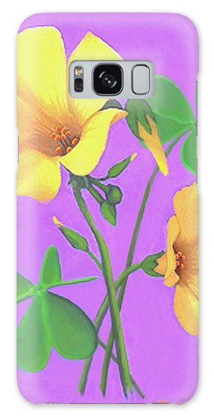 Yellow Clover Flowers Galaxy Case by Sophia Schmierer