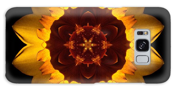 Yellow Daffodil I Flower Mandala Galaxy Case