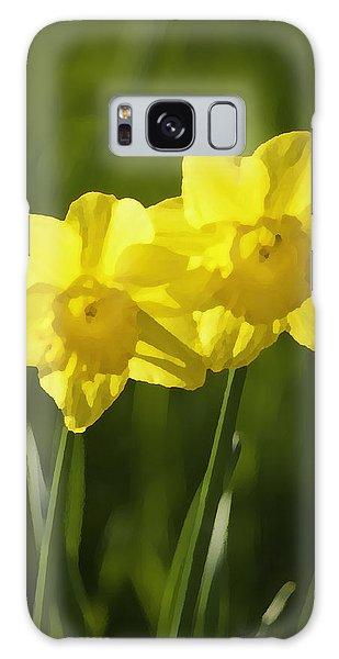 Yellow Daffodils Galaxy Case by Sherri Meyer