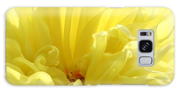 Yellow Dahlia Burst Galaxy Case