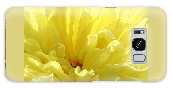 Yellow Dahlia Burst Galaxy Case by Ben and Raisa Gertsberg