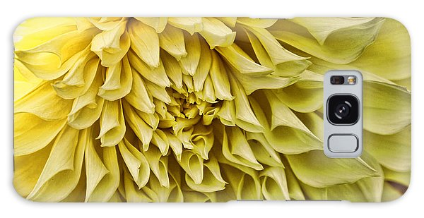 Yellow Dahlia Galaxy Case by Laurinda Bowling