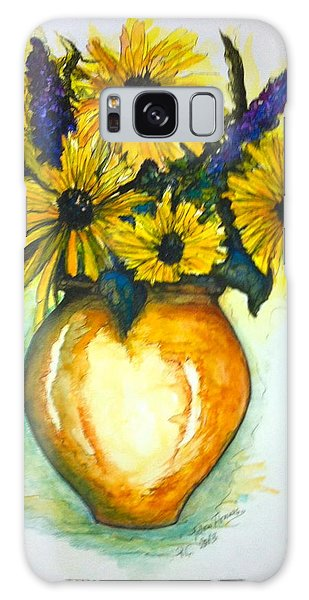 Yellow Daisies Galaxy Case by Rae Chichilnitsky