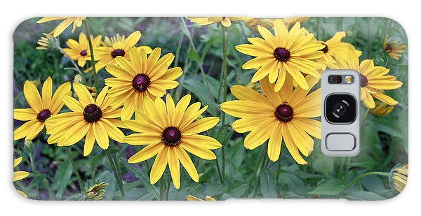 Yellow Daisy Flowers #3 Galaxy Case