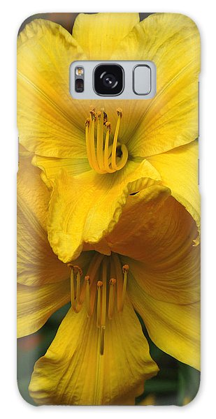 Yellow Day Lilies Galaxy Case