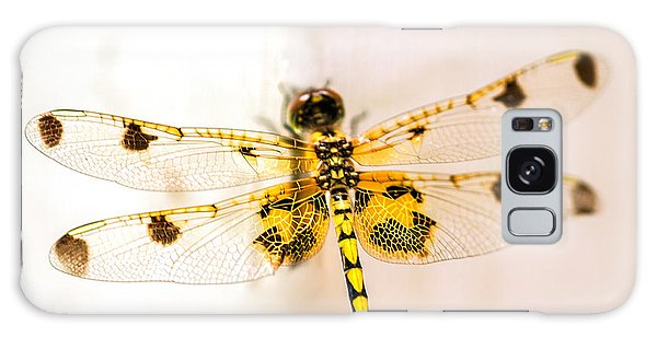 Dragon Galaxy S8 Case - Yellow Dragonfly Pantala Flavescens by Iris Richardson
