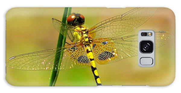 Yellow Dragonfly Galaxy Case