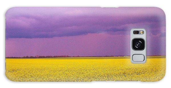 Yellow Field Purple Sky Galaxy Case