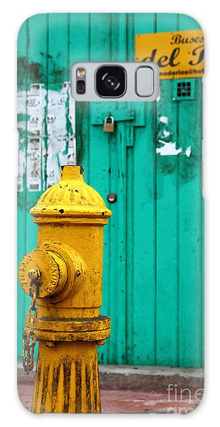 Yellow Fire Hydrant Galaxy Case