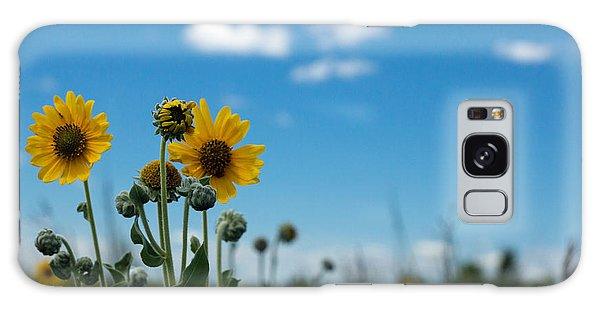 Yellow Flower On Blue Sky Galaxy Case