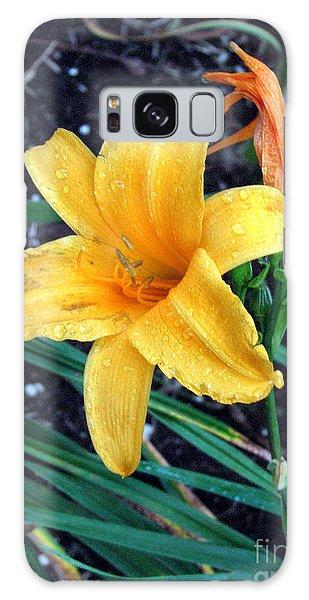 Yellow Flower Galaxy Case by Sergey Lukashin