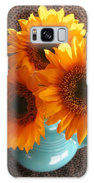 Yellow Flowers In Fiesta Ware Galaxy Case