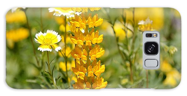 Yellow Flowers In The Meadow Galaxy Case