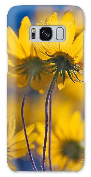 Yellow Flowers Galaxy Case