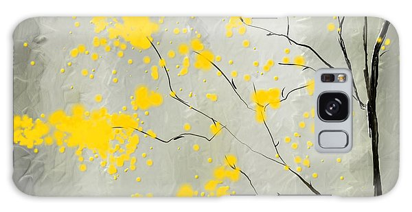Yellow Foliage Impressionist Galaxy Case