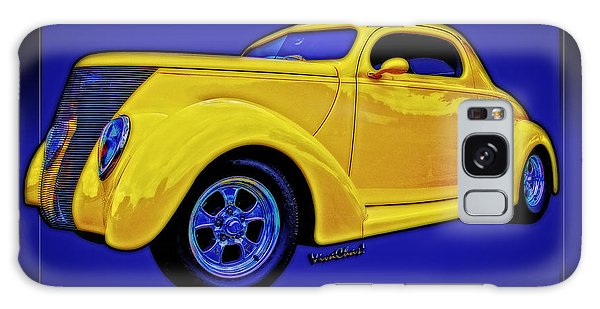 Yellow Ford Coupe Poster Style Galaxy Case