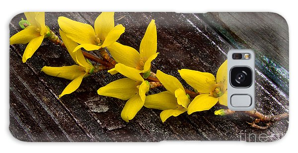 Yellow Forsythia Galaxy Case