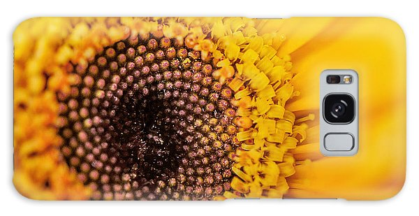 Yellow Gerbera Squared Galaxy Case by TK Goforth
