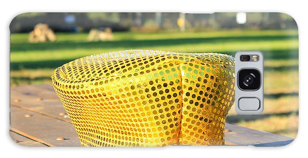 Yellow Hat Galaxy Case by Lorna Maza
