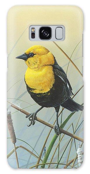 Yellow-headed Black Bird Galaxy Case