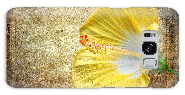 Yellow Hibiscus Galaxy Case