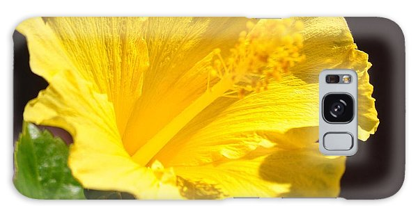 Yellow Hibiscus Open To The Sun Galaxy Case
