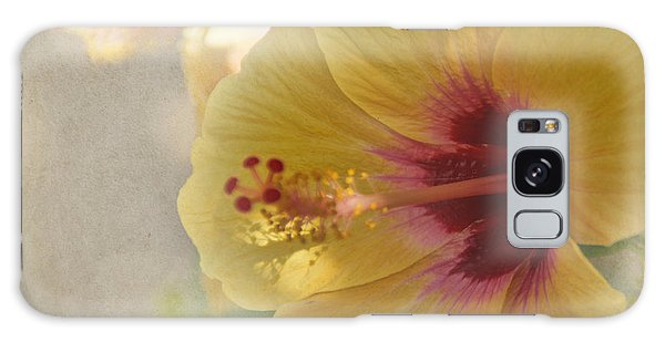 Yellow Hibiscus Galaxy Case by Peggy Hughes