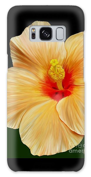 Yellow Hibiscus Galaxy Case by Rand Herron