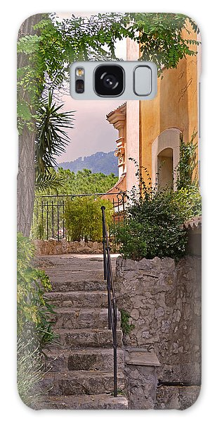Yellow House In Eze France Galaxy Case